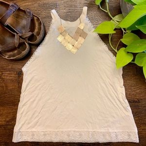 🆕Urban Outfitters White Delicate Lace Tank